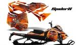Skidoo RevXM CreatorX Graphics Kit SpiderX Orange 150x90 - Ski-Doo Can-Am Rev XM 2013-2017 Graphics