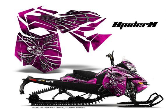 Skidoo RevXM CreatorX Graphics Kit SpiderX Pink 570x376 - Ski-Doo Can-Am Rev XM 2013-2017 Graphics