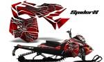 Skidoo RevXM CreatorX Graphics Kit SpiderX Red 150x90 - Ski-Doo Can-Am Rev XM 2013-2017 Graphics