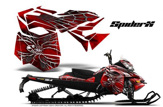 Skidoo RevXM CreatorX Graphics Kit SpiderX Red 570x376 - Ski-Doo Can-Am Rev XM 2013-2017 Graphics