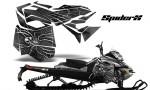 Skidoo RevXM CreatorX Graphics Kit SpiderX Silver 150x90 - Ski-Doo Can-Am Rev XM 2013-2017 Graphics