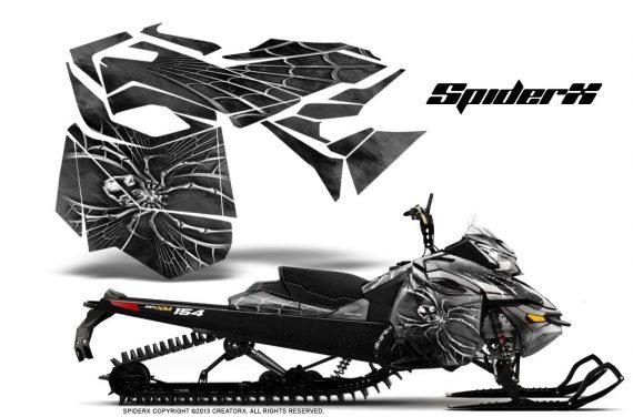 Skidoo RevXM CreatorX Graphics Kit SpiderX Silver 570x376 - Ski-Doo Can-Am Rev XM 2013-2017 Graphics