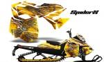 Skidoo RevXM CreatorX Graphics Kit SpiderX Yellow 150x90 - Ski-Doo Can-Am Rev XM 2013-2017 Graphics