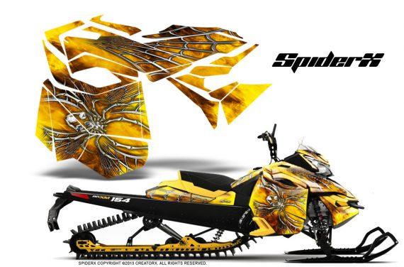 Skidoo RevXM CreatorX Graphics Kit SpiderX Yellow 570x376 - Ski-Doo Can-Am Rev XM 2013-2017 Graphics