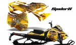 Skidoo RevXM CreatorX Graphics Kit SpiderX Yellow BB 150x90 - Ski-Doo Can-Am Rev XM 2013-2017 Graphics