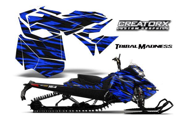 Skidoo RevXM CreatorX Graphics Kit Tribal Madness Blue BB 570x376 - Ski-Doo Can-Am Rev XM 2013-2017 Graphics