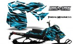 Skidoo RevXM CreatorX Graphics Kit Tribal Madness BlueIce BB 150x90 - Ski-Doo Can-Am Rev XM 2013-2017 Graphics