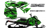Skidoo RevXM CreatorX Graphics Kit Tribal Madness Green BB 150x90 - Ski-Doo Can-Am Rev XM 2013-2017 Graphics