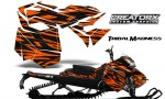 Skidoo RevXM CreatorX Graphics Kit Tribal Madness Orange BB 150x90 - Ski-Doo Can-Am Rev XM 2013-2017 Graphics