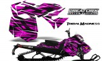 Skidoo RevXM CreatorX Graphics Kit Tribal Madness Pink BB 150x90 - Ski-Doo Can-Am Rev XM 2013-2017 Graphics