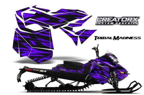Skidoo RevXM CreatorX Graphics Kit Tribal Madness Purple BB 570x376 - Ski-Doo Can-Am Rev XM 2013-2017 Graphics