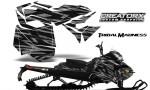 Skidoo RevXM CreatorX Graphics Kit Tribal Madness Silver BB 150x90 - Ski-Doo Can-Am Rev XM 2013-2017 Graphics
