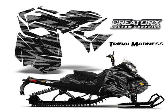 Skidoo RevXM CreatorX Graphics Kit Tribal Madness Silver BB 570x376 - Ski-Doo Can-Am Rev XM 2013-2017 Graphics