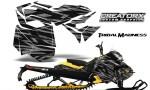 Skidoo RevXM CreatorX Graphics Kit Tribal Madness Silver YB 150x90 - Ski-Doo Can-Am Rev XM 2013-2017 Graphics