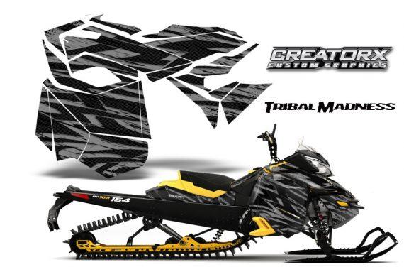 Skidoo RevXM CreatorX Graphics Kit Tribal Madness Silver YB 570x376 - Ski-Doo Can-Am Rev XM 2013-2017 Graphics