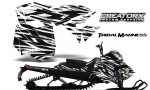 Skidoo RevXM CreatorX Graphics Kit Tribal Madness White BB 150x90 - Ski-Doo Can-Am Rev XM 2013-2017 Graphics