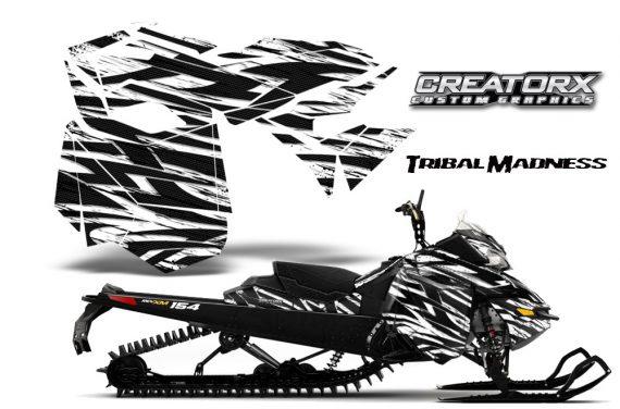 Skidoo RevXM CreatorX Graphics Kit Tribal Madness White BB 570x376 - Ski-Doo Can-Am Rev XM 2013-2017 Graphics