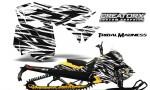 Skidoo RevXM CreatorX Graphics Kit Tribal Madness White YB 150x90 - Ski-Doo Can-Am Rev XM 2013-2017 Graphics
