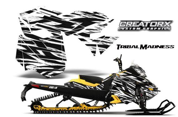 Skidoo RevXM CreatorX Graphics Kit Tribal Madness White YB 570x376 - Ski-Doo Can-Am Rev XM 2013-2017 Graphics