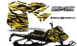 Skidoo RevXM CreatorX Graphics Kit Tribal Madness Yellow BB 150x90 - Ski-Doo Can-Am Rev XM 2013-2017 Graphics