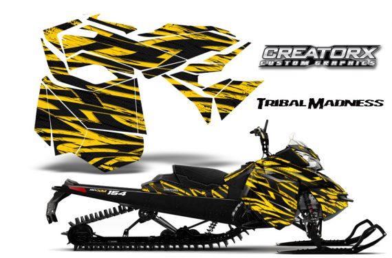Skidoo RevXM CreatorX Graphics Kit Tribal Madness Yellow BB 570x376 - Ski-Doo Can-Am Rev XM 2013-2017 Graphics