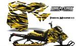 Skidoo RevXM CreatorX Graphics Kit Tribal Madness Yellow YB 150x90 - Ski-Doo Can-Am Rev XM 2013-2017 Graphics