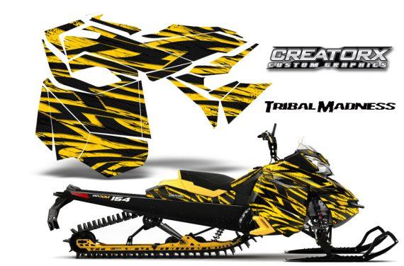 Skidoo RevXM CreatorX Graphics Kit Tribal Madness Yellow YB 570x376 - Ski-Doo Can-Am Rev XM 2013-2017 Graphics