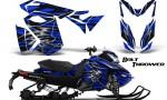 Skidoo RevXS CreatorX Graphics Kit Bolt Thrower Blue 150x90 - Ski-Doo Rev XS MXZ Renegade 2013-2016 Graphics