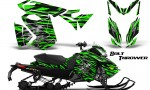 Skidoo RevXS CreatorX Graphics Kit Bolt Thrower Green 150x90 - Ski-Doo Rev XS MXZ Renegade 2013-2018 Graphics