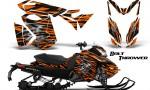Skidoo RevXS CreatorX Graphics Kit Bolt Thrower Orange BB 150x90 - Ski-Doo Rev XS MXZ Renegade 2013-2018 Graphics