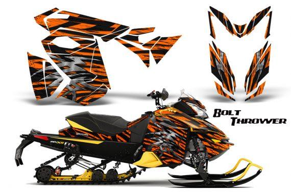 Skidoo RevXS CreatorX Graphics Kit Bolt Thrower Orange YB 570x376 - Ski-Doo Rev XS MXZ Renegade 2013-2018 Graphics