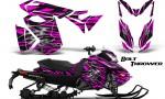 Skidoo RevXS CreatorX Graphics Kit Bolt Thrower Pink 150x90 - Ski-Doo Rev XS MXZ Renegade 2013-2018 Graphics