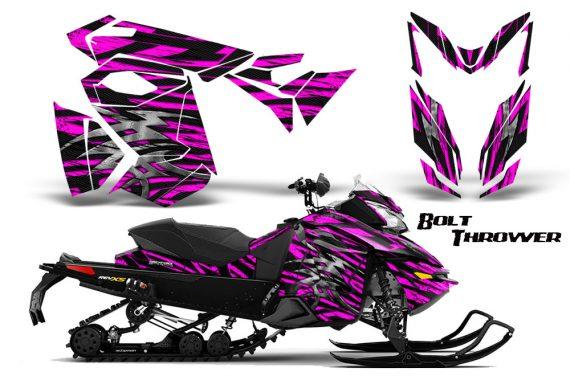 Skidoo RevXS CreatorX Graphics Kit Bolt Thrower Pink 570x376 - Ski-Doo Rev XS MXZ Renegade 2013-2018 Graphics