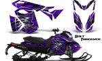 Skidoo RevXS CreatorX Graphics Kit Bolt Thrower Purple 150x90 - Ski-Doo Rev XS MXZ Renegade 2013-2016 Graphics