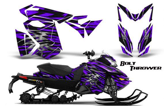Skidoo RevXS CreatorX Graphics Kit Bolt Thrower Purple 570x376 - Ski-Doo Rev XS MXZ Renegade 2013-2018 Graphics