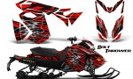 Skidoo RevXS CreatorX Graphics Kit Bolt Thrower Red 150x90 - Ski-Doo Rev XS MXZ Renegade 2013-2016 Graphics