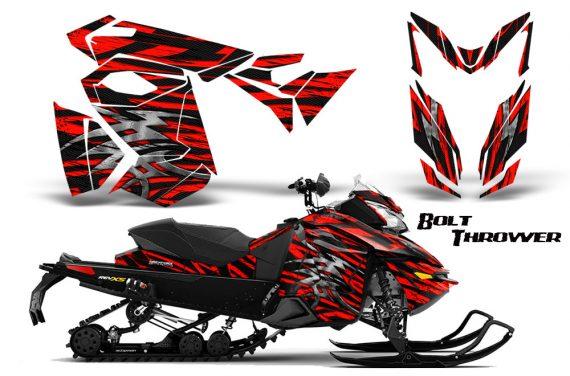 Skidoo RevXS CreatorX Graphics Kit Bolt Thrower Red 570x376 - Ski-Doo Rev XS MXZ Renegade 2013-2018 Graphics