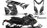 Skidoo RevXS CreatorX Graphics Kit Bolt Thrower Silver 150x90 - Ski-Doo Rev XS MXZ Renegade 2013-2018 Graphics