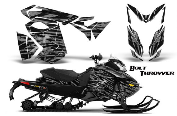 Skidoo RevXS CreatorX Graphics Kit Bolt Thrower Silver 570x376 - Ski-Doo Rev XS MXZ Renegade 2013-2018 Graphics