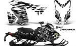 Skidoo RevXS CreatorX Graphics Kit Bolt Thrower White 150x90 - Ski-Doo Rev XS MXZ Renegade 2013-2016 Graphics