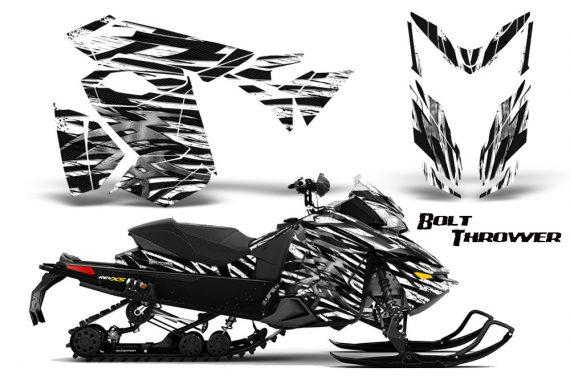 Skidoo RevXS CreatorX Graphics Kit Bolt Thrower White 570x376 - Ski-Doo Rev XS MXZ Renegade 2013-2018 Graphics