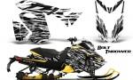 Skidoo RevXS CreatorX Graphics Kit Bolt Thrower White YB 150x90 - Ski-Doo Rev XS MXZ Renegade 2013-2018 Graphics