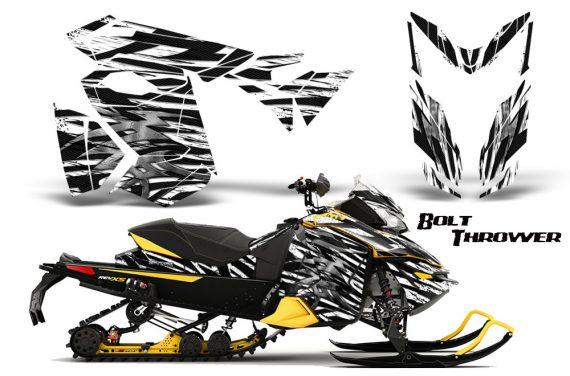 Skidoo RevXS CreatorX Graphics Kit Bolt Thrower White YB 570x376 - Ski-Doo Rev XS MXZ Renegade 2013-2016 Graphics