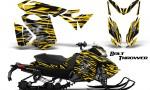 Skidoo RevXS CreatorX Graphics Kit Bolt Thrower Yellow BB 150x90 - Ski-Doo Rev XS MXZ Renegade 2013-2016 Graphics