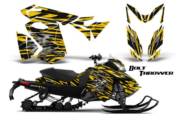 Skidoo RevXS CreatorX Graphics Kit Bolt Thrower Yellow BB 570x376 - Ski-Doo Rev XS MXZ Renegade 2013-2018 Graphics