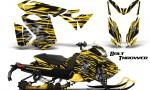 Skidoo RevXS CreatorX Graphics Kit Bolt Thrower Yellow YB 150x90 - Ski-Doo Rev XS MXZ Renegade 2013-2016 Graphics