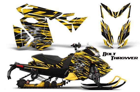 Skidoo RevXS CreatorX Graphics Kit Bolt Thrower Yellow YB 570x376 - Ski-Doo Rev XS MXZ Renegade 2013-2016 Graphics