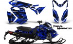 Skidoo RevXS CreatorX Graphics Kit Tribal Madness Blue 150x90 - Ski-Doo Rev XS MXZ Renegade 2013-2018 Graphics