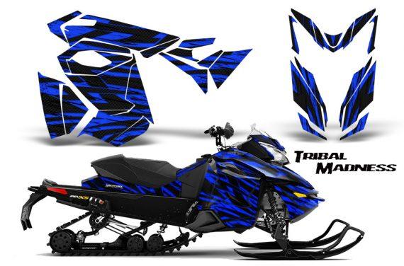 Skidoo RevXS CreatorX Graphics Kit Tribal Madness Blue 570x376 - Ski-Doo Rev XS MXZ Renegade 2013-2018 Graphics