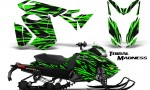 Skidoo RevXS CreatorX Graphics Kit Tribal Madness Green 150x90 - Ski-Doo Rev XS MXZ Renegade 2013-2018 Graphics